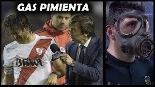 BOCA vs RIVER ⚽ Partido SUSPENDIDO Por El Famoso GAS PIMIENTA ⚽ Copa Libertadores