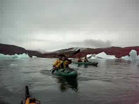 Kayaking in narsauak Greenland