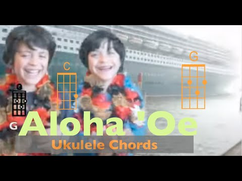 Ukulelevis: Queen Lili'uokalani, Aloha 'oe, Ukulele song chords and lyrics, uptempo