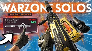 Trying the MAX DAMAGE ODEN Class Setup in Warzone Solos!