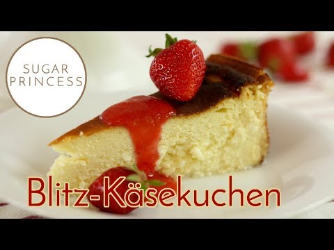 Blitzschneller, cremiger Käsekuchen ohne Boden mit Erdbeersauce   Rezept von Sugarprincess