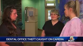 Dental office theft caught on camera