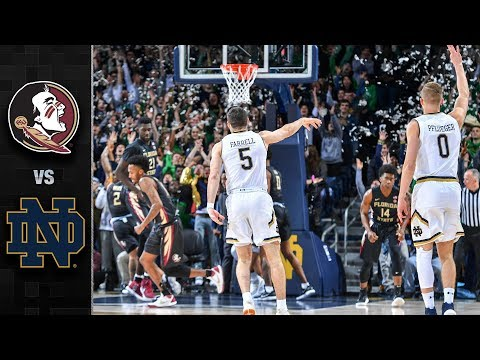 Florida State vs. Notre Dame Basketball Highlights (2017-18)