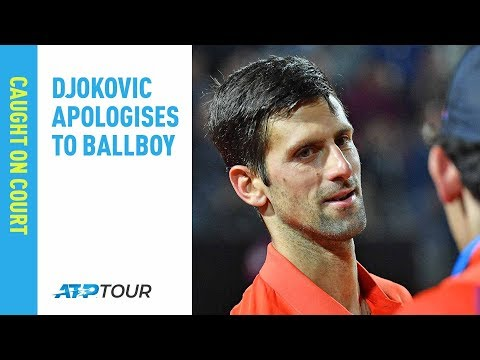 Oops! Djokovic High Fives Ballboy After Accidental Head-Knocker | Rome 2019