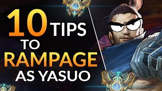 10 SIMPLE TIPS to go YASUO GOD - Combos, Tricks and Matchups | LoL Guide (Challenger)