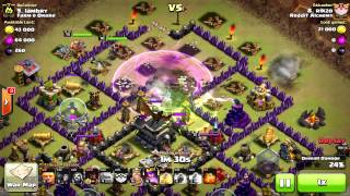 Barb King and Archer Queen AI at it's finest. [ Clash of Clans ]