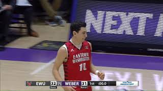 EWU MBB Highlights at Weber State (2/22/18)