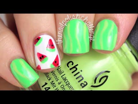 The Nail Polish Challenge Super Easy Diy Watermelon Nail Art