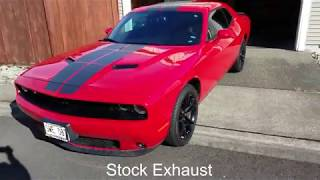 2016 Challenger SXT before and after Borla Catback Exhaust/Atak
