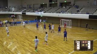 5日 ハンドボール男子 あづま総合体育館 Aコート 静岡西×鹿児島工業 1回戦 2