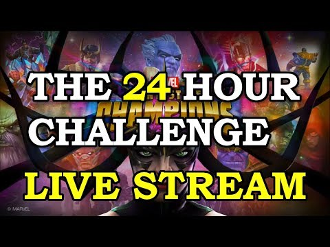 24 Hour New Account Challenge | Marvel Contest of Champions Live Stream