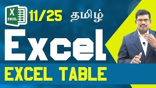#11 Excel Table || Microsoft Excel In Tamil