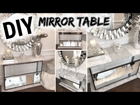 DIY Mirror Table | Dollar Tree DIY Glam Mirror Furniture!