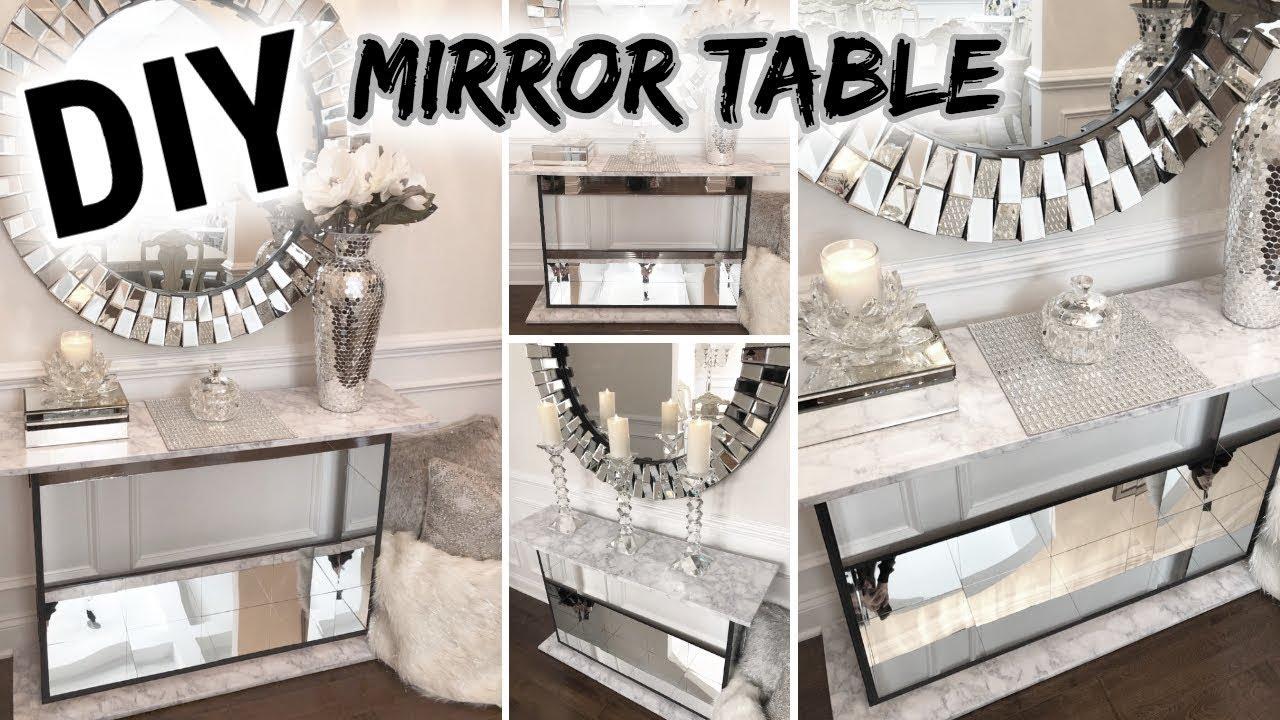DIY Mirror Table | Dollar Tree DIY Glam Mirror Furniture! - YouTube