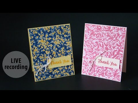 Garden Impressions Paper Cards