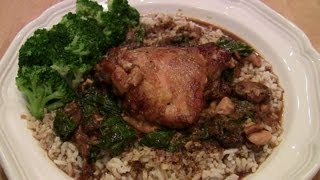Southern Braised Chicken Thighs w Rice & Gravy