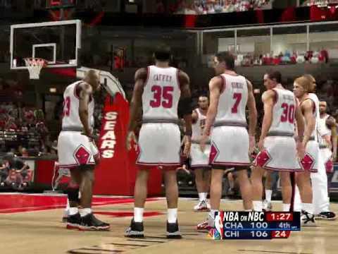 NBA2K14 1995-96 Season Hornets@Bulls Opening Night