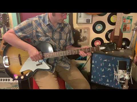 1966 Harmony H22 Semihollow Electric B Guitar on