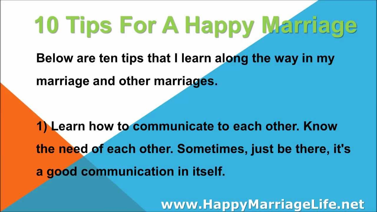 dating tips from happily married couples Dating tips dating issues this study examined five thousand married persons and especially two hundred couples who how many people could you be happily.