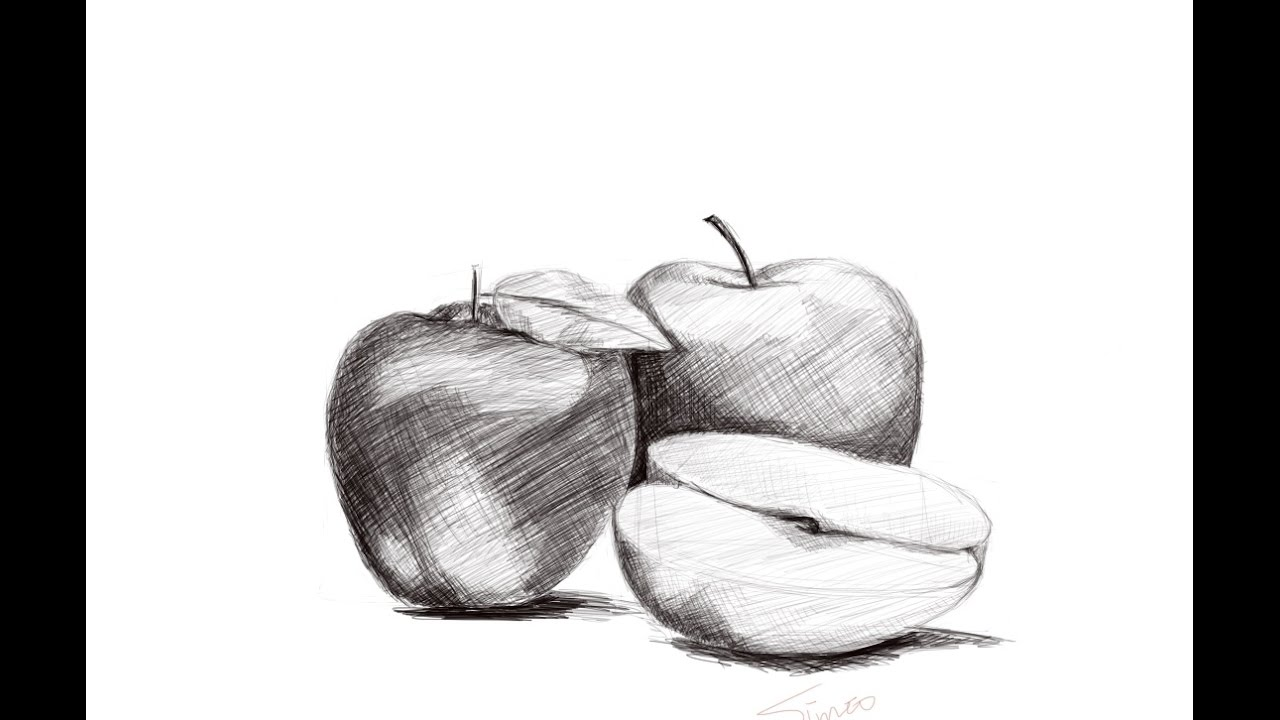 Line Drawing With Shading : Hatching and cross shading techniques youtube