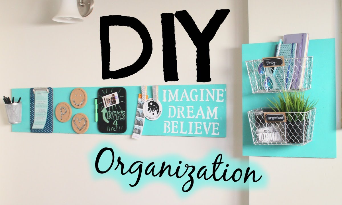 Diy room decor organization easy cheap youtube for Room decor organization
