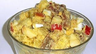 Салат с Селедкой и Яблоком кулинарный видео рецепт