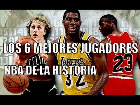 LOS 6 MEJORES JUGADORES NBA DE LA HISTORIA - YouTube