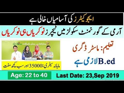 Lahore Cantonment Board Teaching Jobs 2019 CB High School Latest Advertisement
