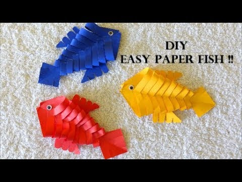DIY Easy Paper Fish For Beginners ~ Paper Fish Making Ideas ~ Easy Tutorial / Instructions