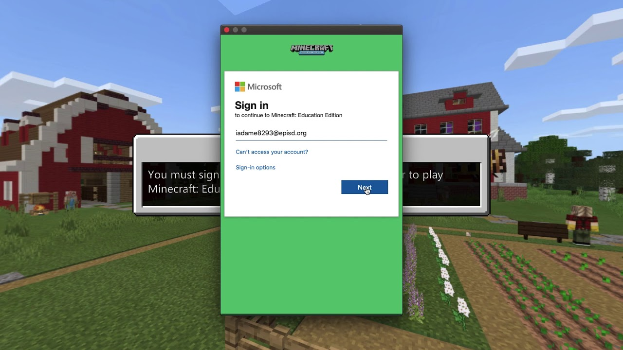 how to log in to minecraft education edition YouTube