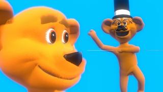 Morfar björn dansar till några populära barnvisor och tappar bort sin hatt - barnvisor från tinyscho thumbnail