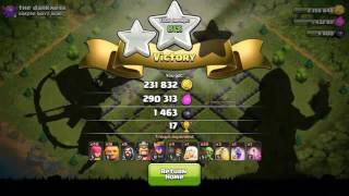 COC(Clash Of Clans) TH9 best Loot Attack Strategy