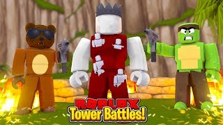 BRUNO & TINY TURTLE FIGHT THE VOID!!! - ROBLOX TOWER BATTLES