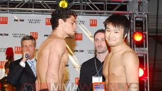 Nick Diaz Confronts Takanori Gomi in Pride 33 Face-Off (#PRIDENeverDie)