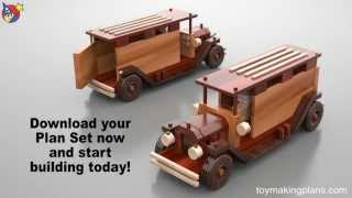 Wood Toy Plans - Antique Metro Trucks