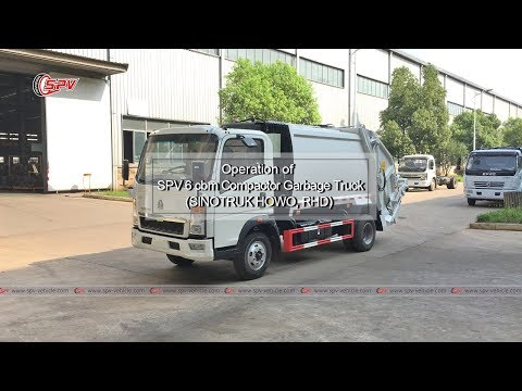 To Seychelles ~ SPV 6 cbm  Garbage Compactor Truck (SINOTRUK HOWO, RHD)