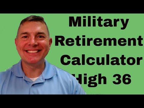 Military Retirement Calculator - High 36