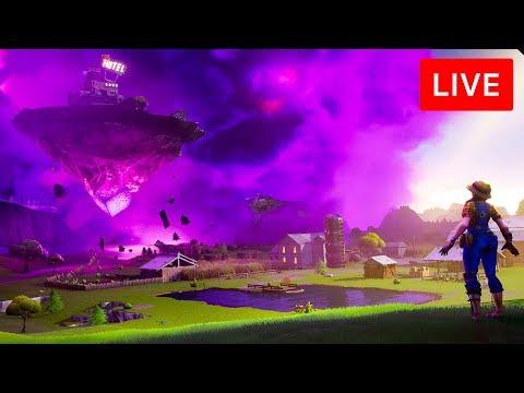 🔴 [LIVE] *NEW* FORTNITE CUBE EVENT! - NEW FLOATING ISLAND MAP UPDATE! (FORTNITE BATTLE ROYALE)