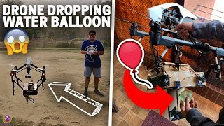 DROPPING WATER BALLOONS from Rs.6,00,000 Drone !! 😱😱😱 thumbnail
