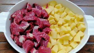 Праздничный рецепт картофеля с мясом на ужин для всей семьи 2