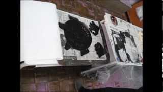 Kimie Gangiの紙版画の作り方(小学校用)no.6 (全6回)