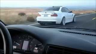 Audi vs bmw lets see who is the muscle of germany filmed on closed road in mexico