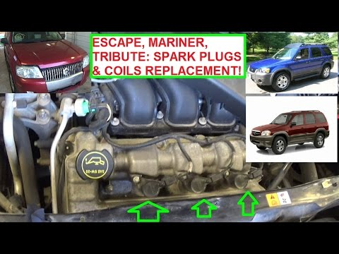 Ford Escape / Mercury Mariner / Mazda Tribute 3.0 Ignition Coil and Spark Plugs Replacement!