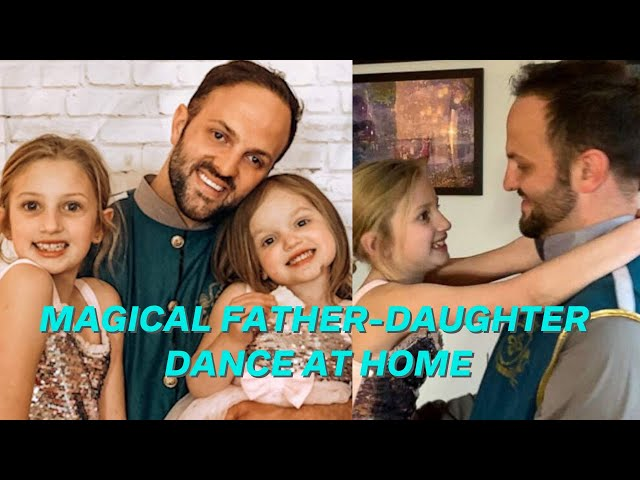 Parents create magical father-daughter dance at home after school closings