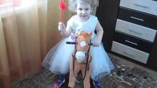 Іграшки Агнія Барто Вірші для дітей (Я люблю свою конячку,причешу їй шерсть гладко)Elsa & Anna