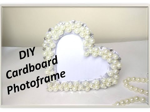 DIY Fancy Photo frame at home / Market like photo frame at very low cost / Heart shape Metal frame