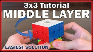 How to Solve the 3x3 Rubik's Cube - Second Layer / Middle Layer