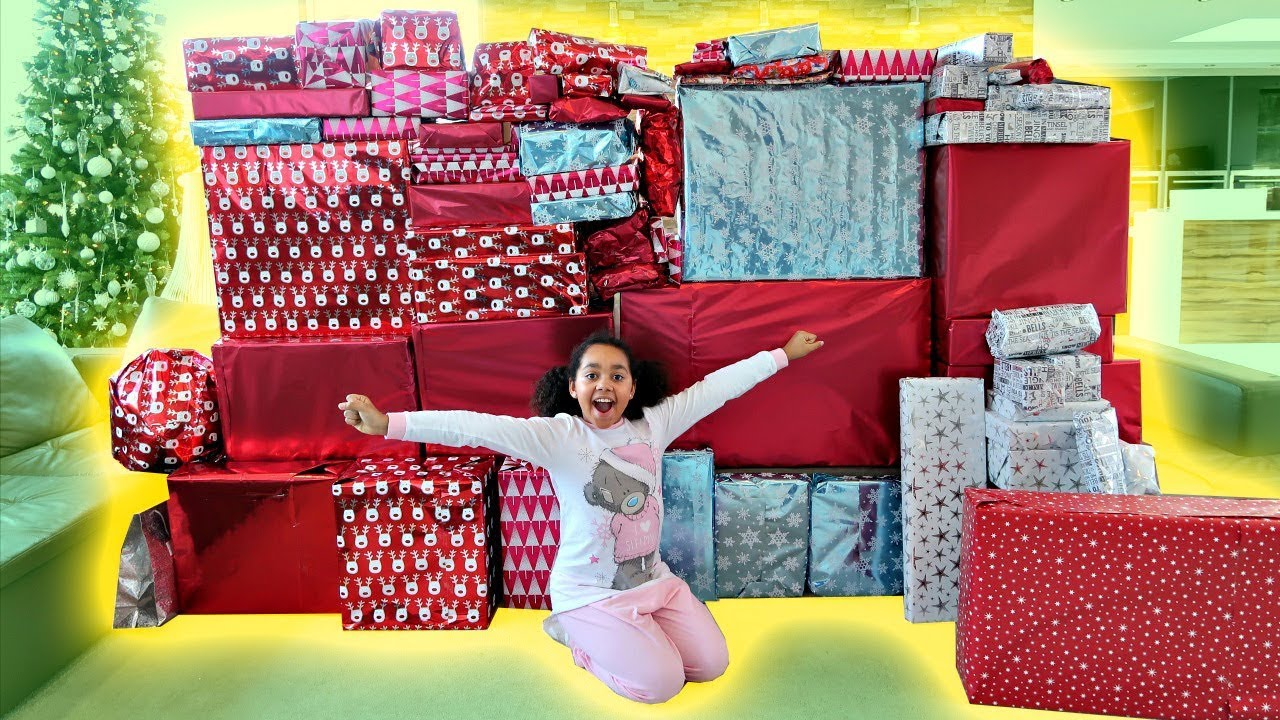 2fc6e6387e23 Best Christmas Ever!! Tiana Opening Christmas Presents Compilation Family  Fun