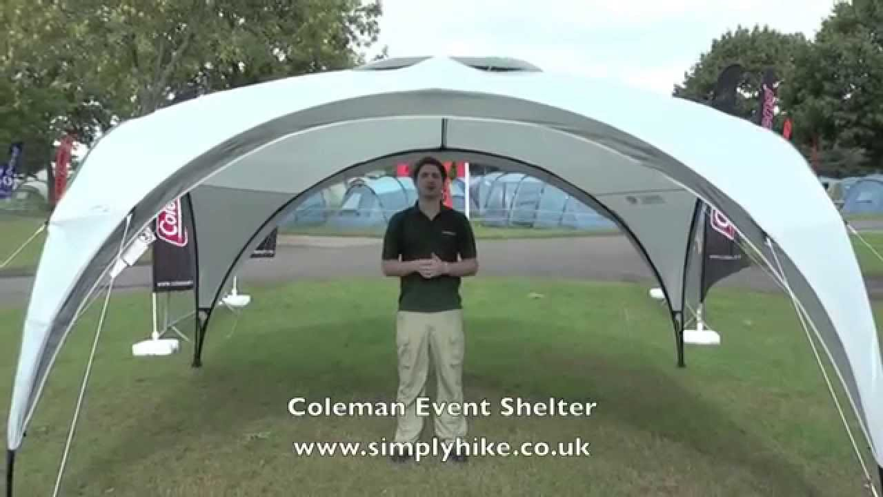 Coleman Event Shelter - .simplyhike.co.uk & Coleman Event Shelter - www.simplyhike.co.uk - YouTube