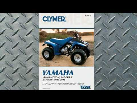 clymer manuals yamaha yfm80 moto 4 badger and raptor 1985 2008 atv rh youtube com